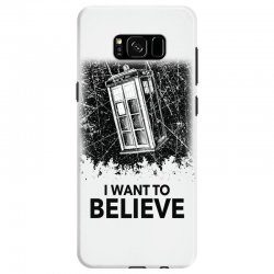 i want to believe tardis for light Samsung Galaxy S8 | Artistshot