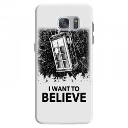 i want to believe tardis for light Samsung Galaxy S7 | Artistshot