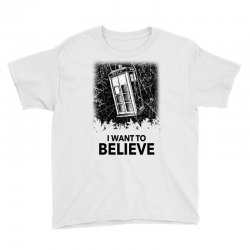 i want to believe tardis for light Youth Tee | Artistshot