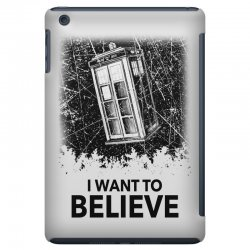 i want to believe tardis for light iPad Mini | Artistshot