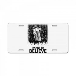 i want to believe tardis for light License Plate | Artistshot