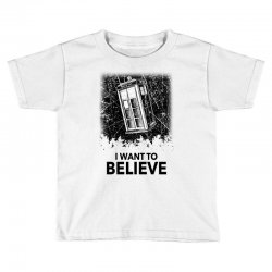 i want to believe tardis for light Toddler T-shirt | Artistshot