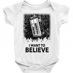 i want to believe tardis for light Baby Bodysuit | Artistshot