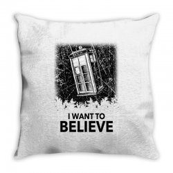 i want to believe tardis for light Throw Pillow | Artistshot