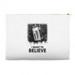 i want to believe tardis for light Accessory Pouches | Artistshot