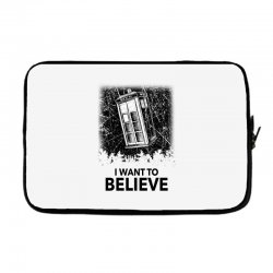 i want to believe tardis for light Laptop sleeve | Artistshot