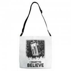 i want to believe tardis for light Adjustable Strap Totes | Artistshot