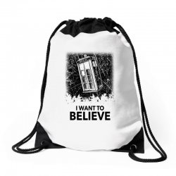 i want to believe tardis for light Drawstring Bags | Artistshot