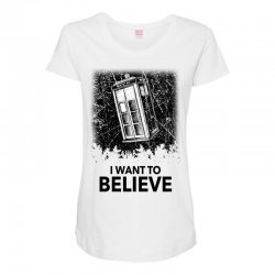 i want to believe tardis for light Maternity Scoop Neck T-shirt | Artistshot