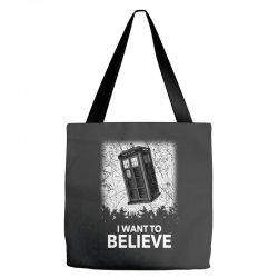 i want to believe tardis for dark Tote Bags | Artistshot