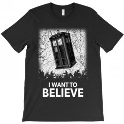 i want to believe tardis for dark T-Shirt | Artistshot