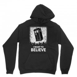 i want to believe tardis for dark Unisex Hoodie | Artistshot