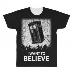 i want to believe tardis for dark All Over Men's T-shirt | Artistshot