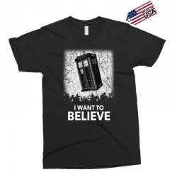 i want to believe tardis for dark Exclusive T-shirt | Artistshot