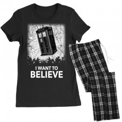 i want to believe tardis for dark Women's Pajamas Set | Artistshot