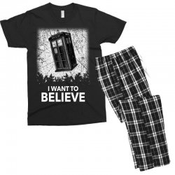 i want to believe tardis for dark Men's T-shirt Pajama Set | Artistshot