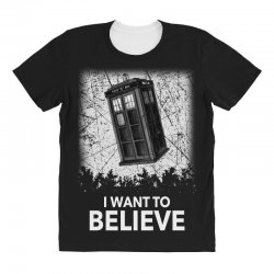 i want to believe tardis for dark All Over Women's T-shirt | Artistshot