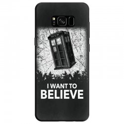 i want to believe tardis for dark Samsung Galaxy S8 Case | Artistshot