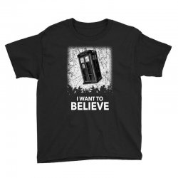 i want to believe tardis for dark Youth Tee | Artistshot