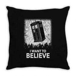 i want to believe tardis for dark Throw Pillow | Artistshot