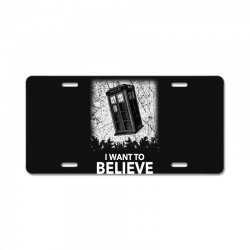 i want to believe tardis for dark License Plate | Artistshot