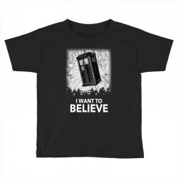 i want to believe tardis for dark Toddler T-shirt | Artistshot
