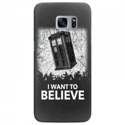 i want to believe tardis for dark Samsung Galaxy S7 Edge Case | Artistshot