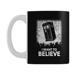 i want to believe tardis for dark Mug | Artistshot