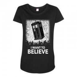 i want to believe tardis for dark Maternity Scoop Neck T-shirt | Artistshot