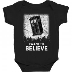 i want to believe tardis for dark Baby Bodysuit | Artistshot