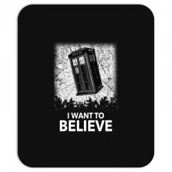 i want to believe tardis for dark Mousepad | Artistshot