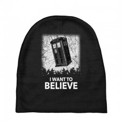 i want to believe tardis for dark Baby Beanies | Artistshot
