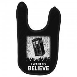 i want to believe tardis for dark Baby Bibs | Artistshot