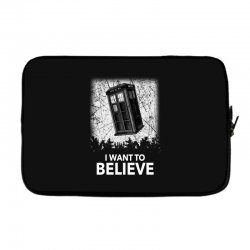 i want to believe tardis for dark Laptop sleeve | Artistshot