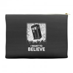 i want to believe tardis for dark Accessory Pouches | Artistshot