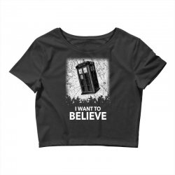 i want to believe tardis for dark Crop Top | Artistshot