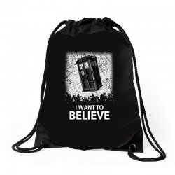 i want to believe tardis for dark Drawstring Bags | Artistshot