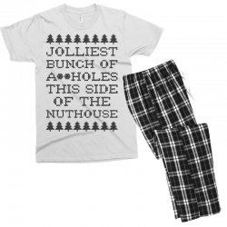 jolliest bunch of assholes this side of the nuthouse Men's T-shirt Pajama Set | Artistshot