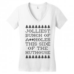jolliest bunch of assholes this side of the nuthouse Women's V-Neck T-Shirt | Artistshot