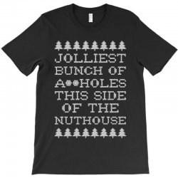 jolliest bunch of assholes this side if the nuthouse for dark T-Shirt | Artistshot