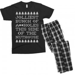 jolliest bunch of assholes this side if the nuthouse for dark Men's T-shirt Pajama Set | Artistshot