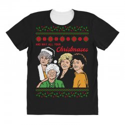Golden Girls Christmas All Over Women's T-shirt | Artistshot