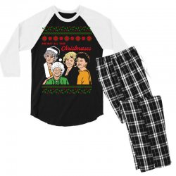 Golden Girls Christmas Men's 3/4 Sleeve Pajama Set | Artistshot