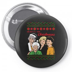 Golden Girls Christmas Pin-back button | Artistshot