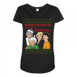 Golden Girls Christmas Maternity Scoop Neck T-shirt | Artistshot