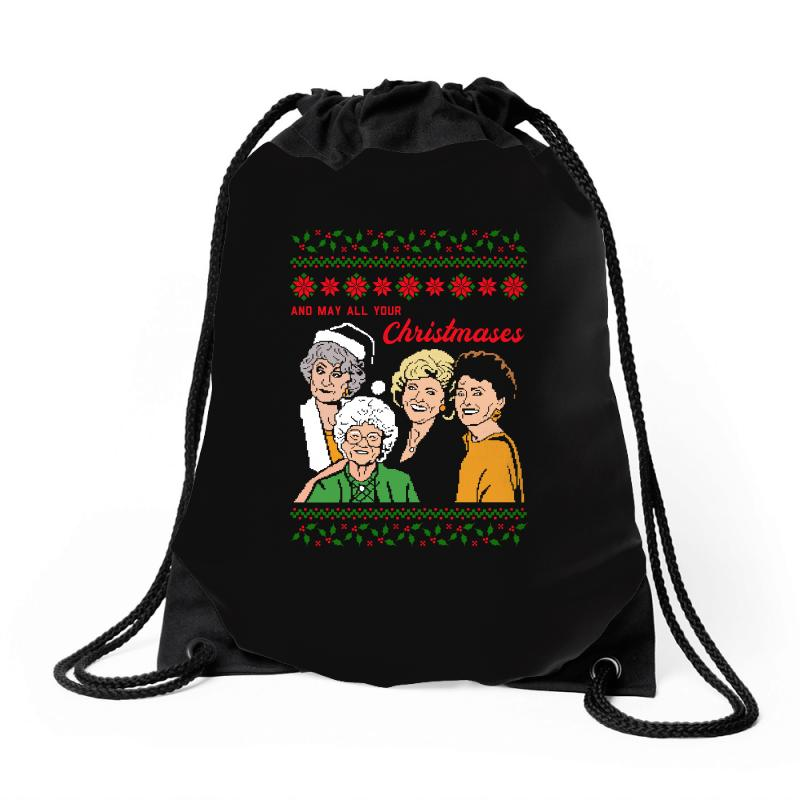 Golden Girls Christmas Drawstring Bags | Artistshot