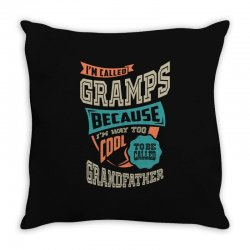 If Gramps Can't Fix It Throw Pillow | Artistshot