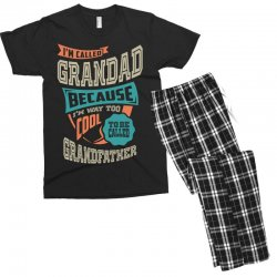 If Grandad Can't Fix It Men's T-shirt Pajama Set | Artistshot