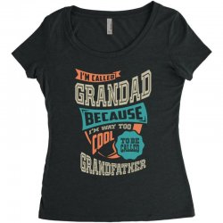 If Grandad Can't Fix It Women's Triblend Scoop T-shirt | Artistshot