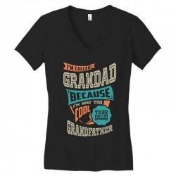 If Grandad Can't Fix It Women's V-Neck T-Shirt | Artistshot